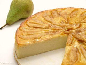 Torta de peras, almendras y maíz por Pedro Lambertini