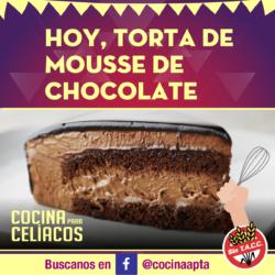 Torta sin gluten de mousse de chocolate y frambuesas